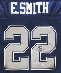 Emmitt Smith Dallas Cowboys Signed Autographed Blue #22 Jersey PAAS COA