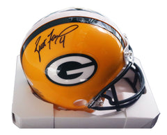Brett Favre Green Bay Packers Signed Autographed Football Mini Helmet PAAS COA