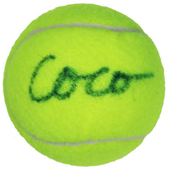 Coco Gauff Pro Womens Tennis Player Signed Autographed Penn Tennis Ball Global COA with Display Holder