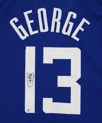 Paul George Los Angeles Clippers Signed Autographed Blue #13 Custom Jersey PAAS COA