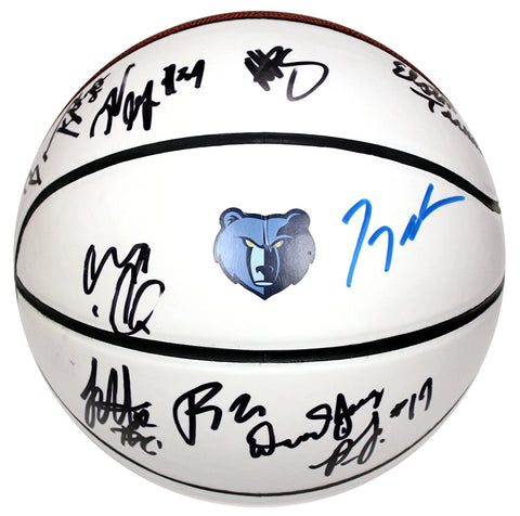Memphis Grizzlies 2015-16 Team Signed Autographed White Panel Basketball AI COA