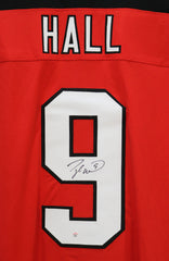 Taylor Hall New Jersey Devils Signed Autographed Red #9 Custom Jersey PAAS COA