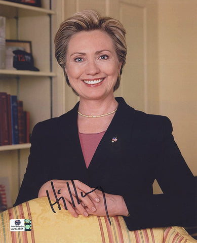 "Hillary Clinton Presidential Candidate Signed Autographed 8"" x 10"" Photo Global COA"