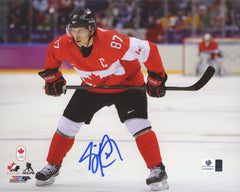 "Sidney Crosby Pittsburgh Penguins Signed Autographed 8"" x 10"" Team Canada Photo Global COA"