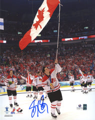 "Sidney Crosby Pittsburgh Penguins Signed Autographed 8"" x 10"" Team Canada Celebration Photo Global COA"