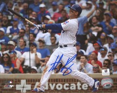 "Anthony Rizzo Chicago Cubs Signed Autographed 8"" x 10"" Home Run Photo Global COA"