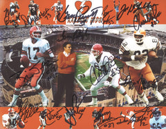 "Cleveland Browns Kardiac Kids Signed Autographed 8"" x 10"" Photo Witnessed Global COA Sipe Newsome"