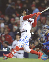 "Mookie Betts Boston Red Sox Signed Autographed 8"" x 10"" Hitting Photo Global COA"