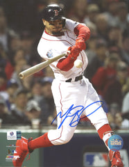 "Mookie Betts Boston Red Sox Signed Autographed 8"" x 10"" Swinging Photo Global COA"