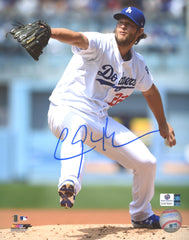 "Clayton Kershaw Los Angeles Dodgers Signed Autographed 8"" x 10"" Pitching Photo Global COA"