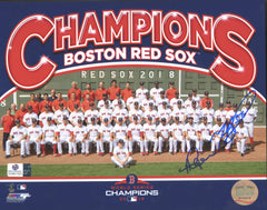 "Mookie Betts and Andrew Benintendi Boston Red Sox Dual Signed Autographed 8"" x 10"" World Series Champions Photo Global COA"