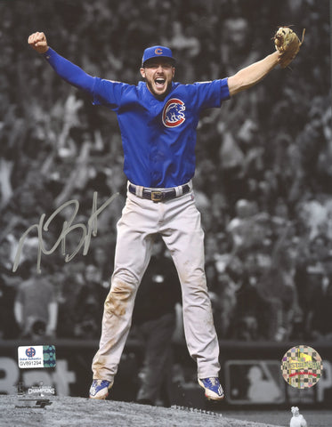 "Kris Bryant Chicago Cubs Signed Autographed 8"" x 10"" Celebration Photo Global COA"