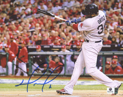 "David Ortiz Boston Red Sox Signed Autographed 8"" x 10"" Batting Photo Global COA"