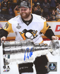 "Phil Kessel Pittsburgh Penguins Signed Autographed 8"" x 10"" Stanley Cup Trophy Photo Global COA"