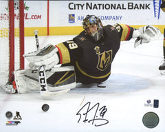 "Marc-Andre Fleury Vegas Golden Knights Signed Autographed 8"" x 10"" Making Save Photo Global COA"