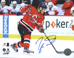 "Taylor Hall New Jersey Devils Signed Autographed 8"" x 10"" Shooting Photo Global COA"