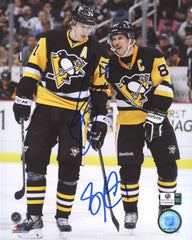 "Sidney Crosby and Evgeni Malkin Pittsburgh Penguins Dual Signed Autographed 8"" x 10"" Photo Global COA"