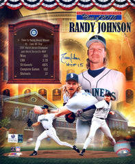 "Randy Johnson Seattle Mariners Signed Autographed 8"" x 10"" Hall of Fame Photo Global COA"