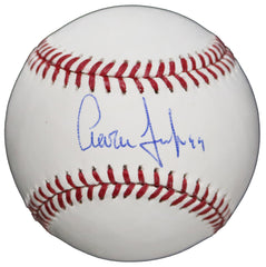 Aaron Judge New York Yankees Signed Autographed Rawlings Official Major League Baseball Global COA with Display Holder