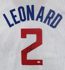 Kawhi Leonard Los Angeles Clippers Signed Autographed White #2 Custom Jersey PAAS COA