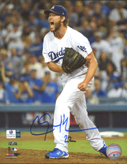 "Clayton Kershaw Los Angeles Dodgers Signed Autographed 8"" x 10"" Celebration Photo Global COA"