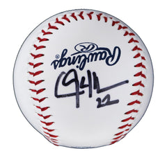 Clayton Kershaw Los Angeles Dodgers Signed Autographed Rawlings Official Major League Logo Baseball Global COA with Display Holder