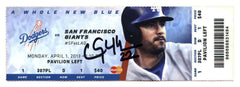 Clayton Kershaw Los Angeles Dodgers Signed Autographed Game Ticket 1st Career Home Run Global COA