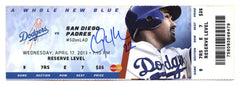Clayton Kershaw Los Angeles Dodgers Signed Autographed Game Ticket 1000th Career Strikeout Global COA