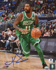 "Kyrie Irving Boston Celtics Signed Autographed 8"" x 10"" Dribbling Photo Global COA"