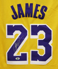 Lebron James Los Angeles Lakers Signed Autographed Yellow #23 Jersey CA COA