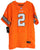 Johnny Manziel Cleveland Browns Signed Autographed Orange #2 Jersey JSA COA