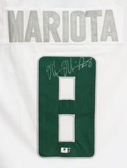 Marcus Mariota Oregon Ducks Signed Autographed White #8 Jersey Global COA