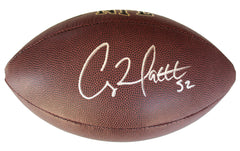 Clay Matthews Jr. Green Bay Packers Signed Autographed Wilson NFL Football PAAS COA
