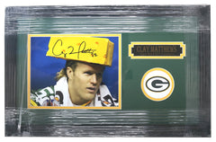 "Clay Matthews Jr. Green Bay Packers Signed Autographed 22"" x 14"" Framed Cheesehead Photo"
