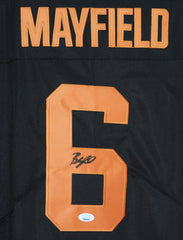 Baker Mayfield Cleveland Browns Signed Autographed Brown #6 Jersey JSA COA Size XL
