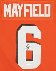 Baker Mayfield Cleveland Browns Signed Autographed Orange #6 Jersey JSA COA