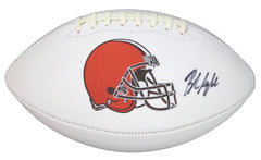 Baker Mayfield Cleveland Browns Signed Autographed White Panel Logo Football