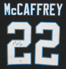 Christian McCaffrey Carolina Panthers Signed Autographed Black #22 Custom Jersey Global COA