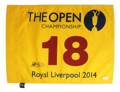 Rory McIlroy Signed Autographed 2014 British Open Championship Golf Pin Flag JSA COA