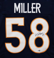 Von Miller Denver Broncos Signed Autographed Blue #58 Jersey Global Coa
