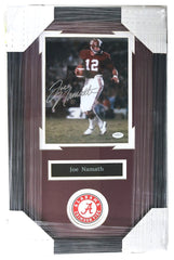 "Joe Namath Alabama Crimson Tide Signed Autographed 22"" x 14"" Framed Photo"
