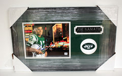 "Joe Namath New York Jets Signed Autographed 22"" x 14"" Framed Photo"