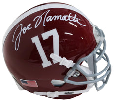 Joe Namath Alabama Crimson Tide Signed Autographed Football Mini Helmet Global COA