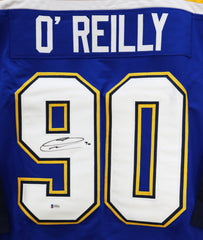 Ryan O'Reilly St. Louis Blues Signed Autographed Blue #90 Custom Jersey Beckett COA
