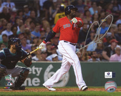 "David Ortiz Boston Red Sox Signed Autographed 8"" x 10"" Hitting Photo Global COA"