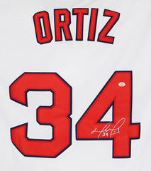 David Ortiz Boston Red Sox Signed Autographed White #34 Jersey PAAS COA