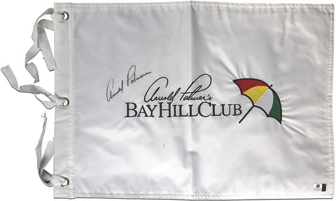 Arnold Palmer Signed Autographed Bay Hill Club Golf Pin Flag Global COA