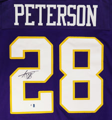 Adrian Peterson Minnesota Vikings Signed Autographed Purple #28 Custom Jersey Global COA