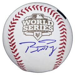 Buster Posey San Francisco Giants Signed Autographed Rawlings 2012 World Series Official Baseball Global COA with Display Holder