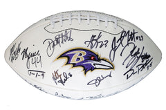 Baltimore Ravens 2015 Team Signed Autographed Logo Football Flacco Tucker